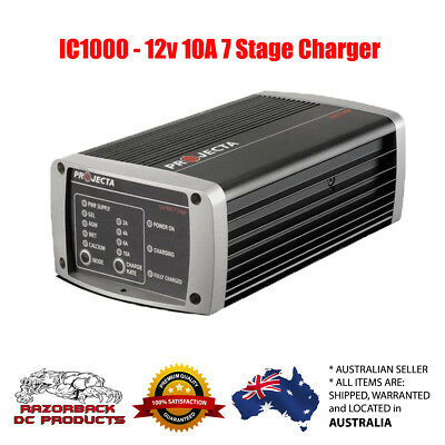 Projecta INTELLI-CHARGE Battery Charger 12V 10 Amp 7 Stage IC1000