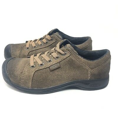 d9212329b6ff Keen Reisen Lace Women Sz 6.5 M Walking Oxford Hiking Casual Shoes Suede  Leather