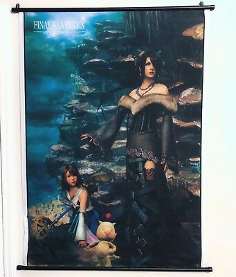 "Final Fantasy X FFX 10 Lulu & Yuna Wall Scroll Poster 33x44""- SHIPS FROM AMERICA"