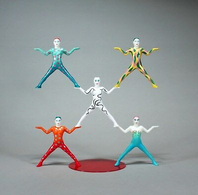 MAGNETIC ACROBATS EQUILIQUE 5 FIGURE SET Interactive Sculpture by JOHN PERRY