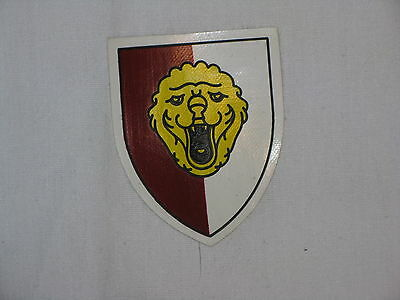 Original Belguim Vintage Shoulder Insignia –16th armor div- Vinyl on Felt
