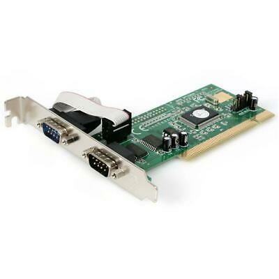 2 Port Serial Adapter Card PCI Slot RS232 StarTech Plug and Play Installation