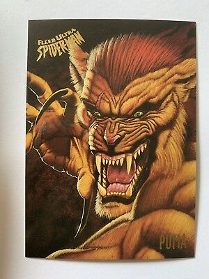 Fleer Ultra Spider-Man 1995 Marvel Card #44 Puma