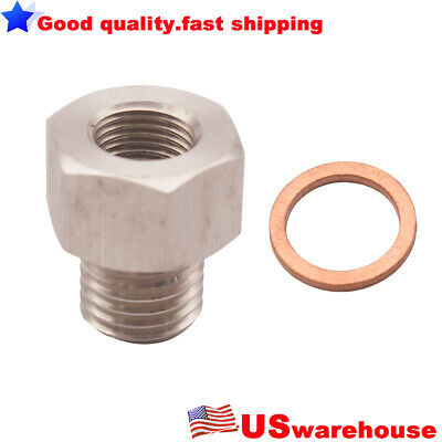 "New Fitting Adapter NPT 1/8"" Female To Metric M12X1.5 Male Replace auto meter"