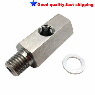 """New NPT Fitting Male to Female 1/8"""" To M12X1.5 Adapter Turbo Oil Pressure Sensor"""