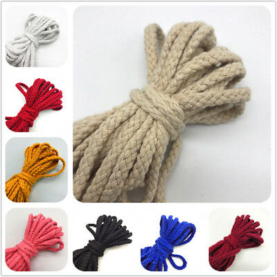 10m/roll Colorful Cotton Rope Crafts Twisted Handmade Decor Lanyard Thread Cord