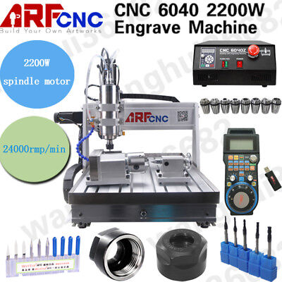 Usb 4Axis 2200W Cnc 6040Z Router Engraving Drilling Milling Machine 3D Cutter