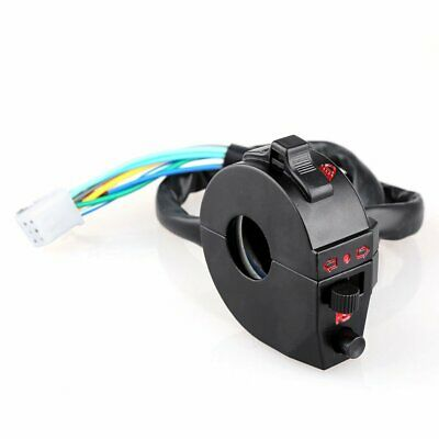 Motorcycle Handle Bar Turn Signal Light Indicator Horn Control Switch VU