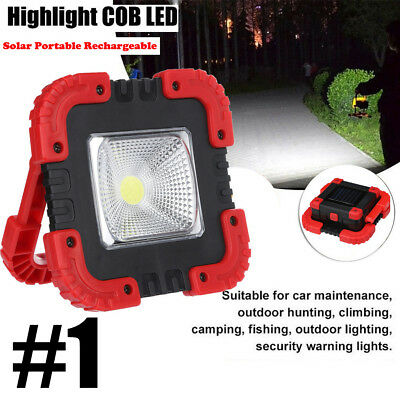 30W 2400LM Solar Portable Rechargeable LED Flood Light Outdoor Work Spot Lamp