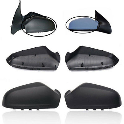 Pair Left + Right Side Wing Door Mirror Covers VAUXHALL ASTRA H MK5 2004-2009