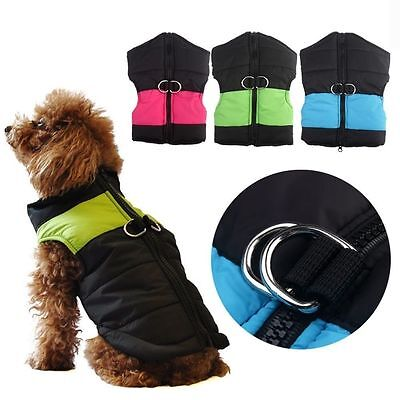 Small Dog - Puppy Coat - Padded Winter Jacket For Small Dogs &Puppies XS S M XL