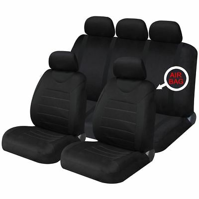 Pleasant Black Black Fabric Seat Covers Tailored For Toyota Aygo Theyellowbook Wood Chair Design Ideas Theyellowbookinfo