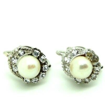 711a84a63aa Boucles D oreilles Made In Italy Vintage Années  50 Or Massif 18 ...