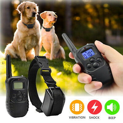 Waterproof Wireless Electric Dog Fence System Shock Collars For Pet Dog 1000FT