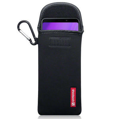 Shocksock Neoprene Pouch Case with Carabiner for Samsung Galaxy A9 2018 - Black