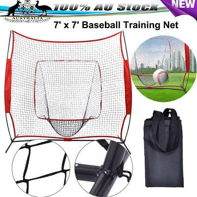 Softball Baseball Training Practice Net Tennis Kit Outdoor Yard Portable Bag 7'