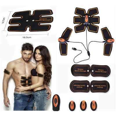 Full Ultimate Smart Abs Stimulator EMS Training Gear body Muscle Trainer kit lot