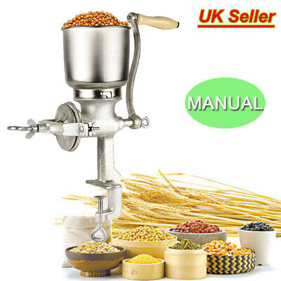 Corn Grinder Coffee Food Wheat Manual Hand Grains Nut Mill Crank Cast Iron Maker