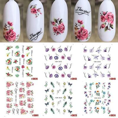 Nail Sticker Flower Water Decals Peony Cute Wraps Sliders Nail Water Stickers