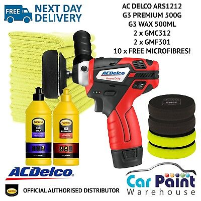 AC Delco ARS1212 Mini Polisher 3 Inch DELUXE Farecla Polishing Kit