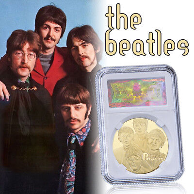 WR The Beatles Music Fans Commemorative Collectors Coin Medallion 24KT GOLD Gift