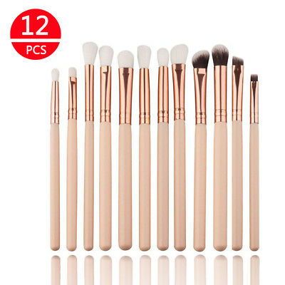 12x Professional Eyeshadow Blending Pencil Eye Brushes Makeup Cosmetic Set Tool