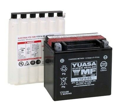 Yuasa Ytx14-bs BS Battery AGM 12V 12AH Motorcycle Motorbike Scooter YTX14 FTX14