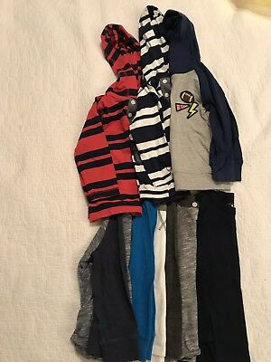 Baby Gap/Kids Toddler Boys 7 Long Sleeve & Hooded Tee Shirt Lot 2T EUC