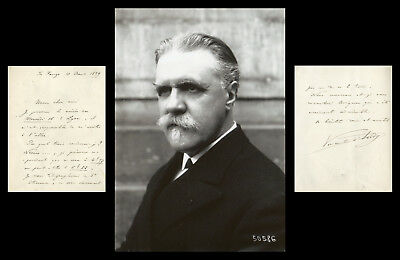 Vincent d'Indy (1851-1931) - French composer - Autograph letter signed + Photo