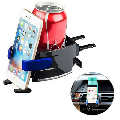 Multifunctional 360 Degree Rotation Car Air Vent Holder Phone Stand Drink Coffee