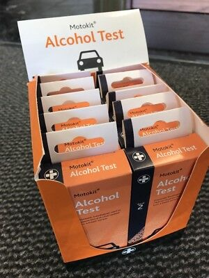 20x Breathalysers single use alcohol test kits Motorist Taxi Coach Lorry Haulage