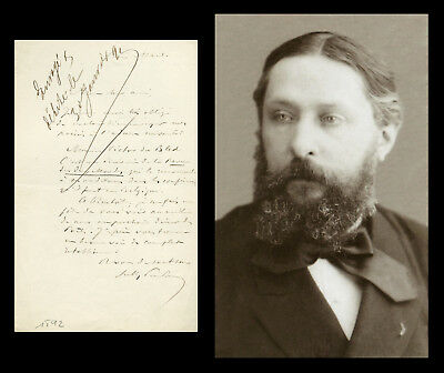 Sully Prudhomme († 1907) - French poet - Autograph letter signed - Nobel Prize