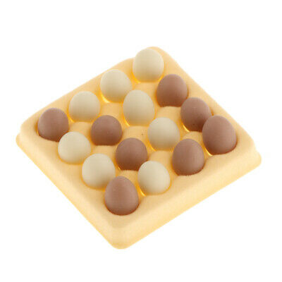 1/12 Dollhouse Miniature Kitchen Accessories 16pcs Eggs with Holder Box