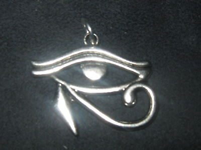 Silver Plated Egyptian Egypt Eye Of Horus Ra Pendant Charm Necklace 30Mm