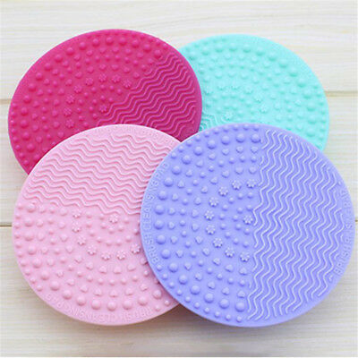 Silicone Makeup Brush Cleaner Pad Washing Scrubber Board Cleaning Mat Hand HS
