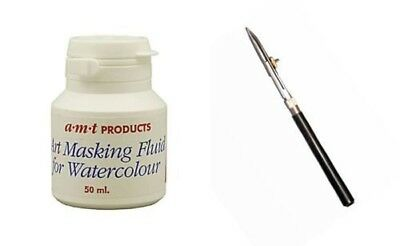 AMT Artists Masking Fluid And Ruling Pen For Watercolour. Free Shipping