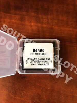 Wms Nxt Cpu Ram Clear Card Bb1 Bb2 V1810 All Boards Williams Software Slot Game