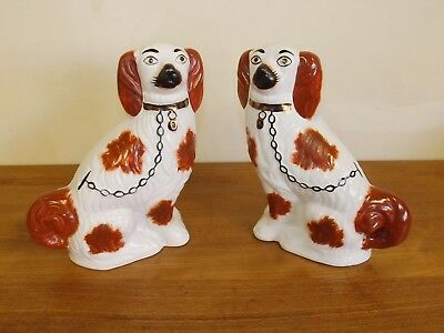 """Pair King Charles Spaniel Wally Dogs Vintage. 8 1/2"""" Tall"""