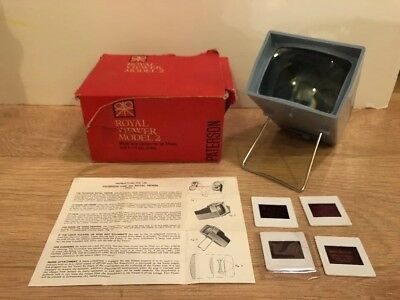 Paterson Royal Model 2 Slide Viewer - Original Box & Instructions