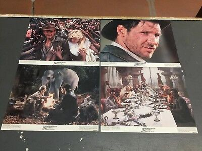 Indiana Jones And The Temple Of Doom Lobby Cards (8) 11x14 1984