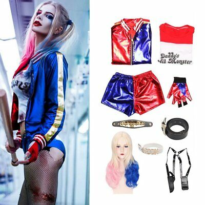 Adult Cosplay Harley Quinn Damen Kostüm Carnival Suicide Squad Cosplay Outfit