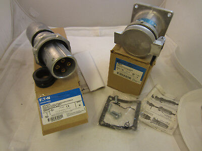 Crouse Hinds 60 Amp 4W 4P  Plug And Receptacle Set Ar641 & Apj6475 New In Box