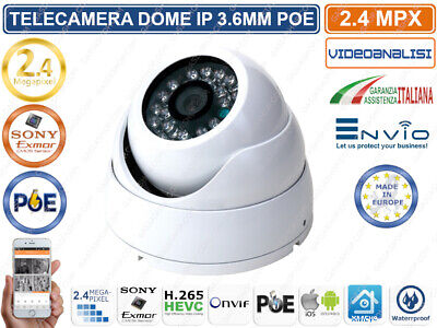 Telecamera Dome Ip 2 Mp 1080P 3.6Mm Ir Led Onvif Poe Con Videoanalisi Ip66 Xmeye