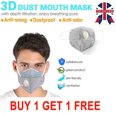 2X Outdoor Unisex Anti-pollution Mask Sport Ski Dust Proof Air Filter Face Mask