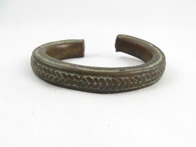 Antique African Cameroon Tribal Peules/foulbe Bronze Currency Cuff Bracelet