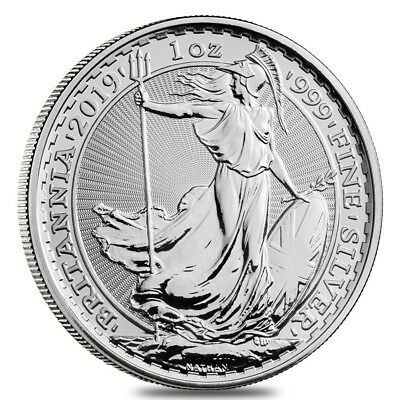 2019 Great Britain 1 oz Silver Britannia Coin .999 Fine BU