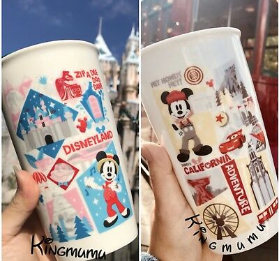 Starbucks Disneyland Disney California Adventure Icon Travel Tumbler Mug Set