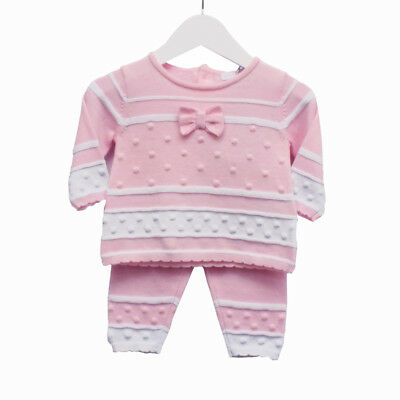 Baby Girl Romany/spanish Style Knitted Zip Zap Pink Outift 6 Months Clothes, Shoes & Accessories