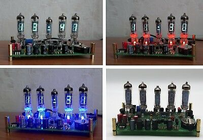 Clock alarm IV-6 + IV-1 VFD Tube Nixie with RED/BLUE  Backlight