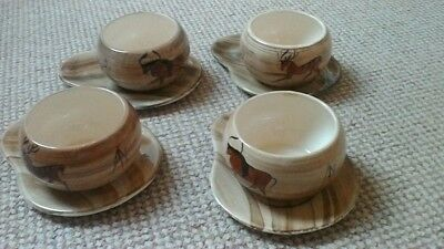Babbacombe Philip Laureston LAURIANA CAVE ART DESIGN 4 SOUP BOWLS AND DISHES